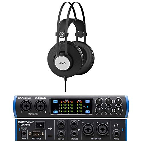 Presonus Studio 68c Versatile, Ultra-High-Def USB-C Audio Interface Bundle with Heaphone