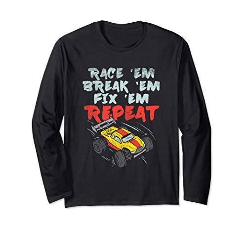 RC Cars Race Break Fix Repeat Manga Larga