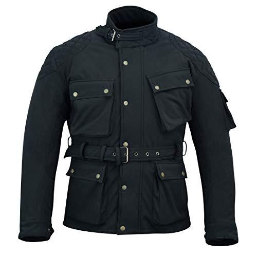 Warrior Gears® Protect Softshell - Chaqueta de moto para hombre, color negro | repelente al agua, resistente al viento | Transpirable | Tejido Hitez | Chaqueta de invierno para hombre