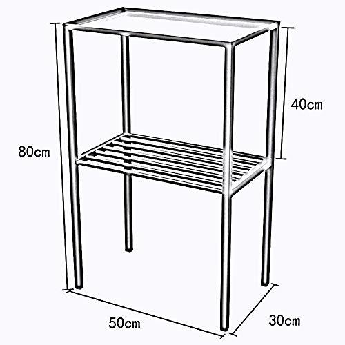 Handige bijzettafeltje, rechthoekige tafel voor op de tafel, van eiken en kunststof, geschikt als tafelblad grijs
