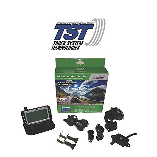TST 507 4 Sensor Flow Through Tire Monitoring System with Monochrome Display - Handles Multiple Trailers