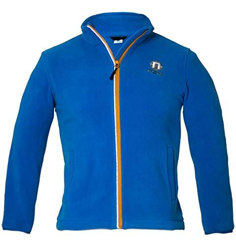 Nexi Kinder Fleece Jacke | ideal für Jungen und Mädchen kuschelig weich mit 2 Seitentaschen | Tibi blue/158