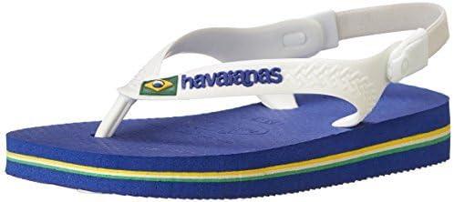 red Havaianas Brasil Logo Kids Kinder Zehenstegsandale rot