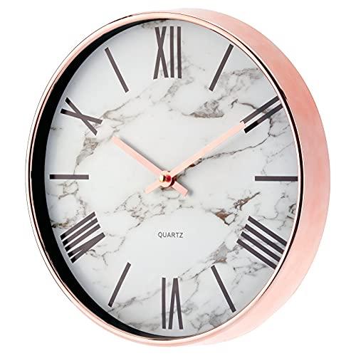 mDesign Elegante reloj para pared con atractivas manecillas – Reloj vintage de pared con...