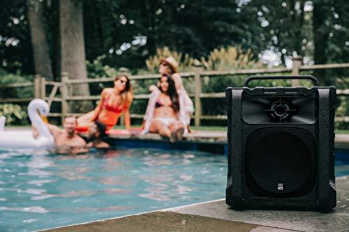 Altec Lansing Sonic Boom 2 Bluetooth Speaker IMT804 | Ultimate Waterproof Wireless Bluetooth Speaker, Built-In Charging Station, 50ft Range, 20 Hour Battery Life (Black)