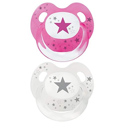 Babynova - Ciuccio in silicone per neonati, motivo: con stelline, 6 – 18 mesi