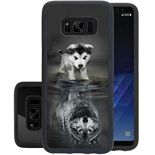 Phone Case for Samsung Galaxy S8 Wolf,ChyFS Phone Case ,PC and TPU Black Protective Case for Samsung Galaxy S8