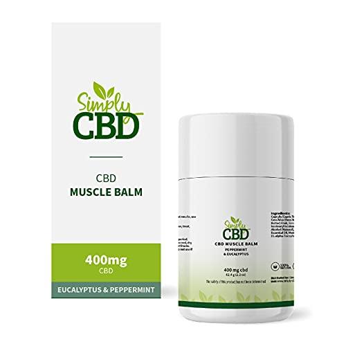 Simply CBD Muscle Balm - 400MG of CBD - Eucalyptus and Peppermint White