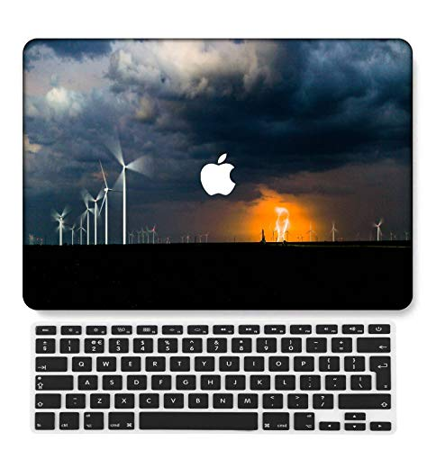 GangdaoCase Plastic Ultra Slim Light Hard Shell Case Cut Out Design Compatible New MacBook Pro 15 inch with Touch Bar/Touch ID with UK Keyboard Cover A1707/A1990 (Colorful C 0424)