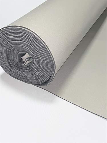 Light Gray Auto Headliner 3/16' Foam Backing Fabric Material 60' Long (5 Feet) X 60' Wide