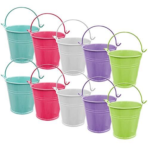 YLX Mini Metal Cubo, 5 Color para Caja de Dulces, Velas Votivas, Baratijas, Macetas de Jardín (10pcs)