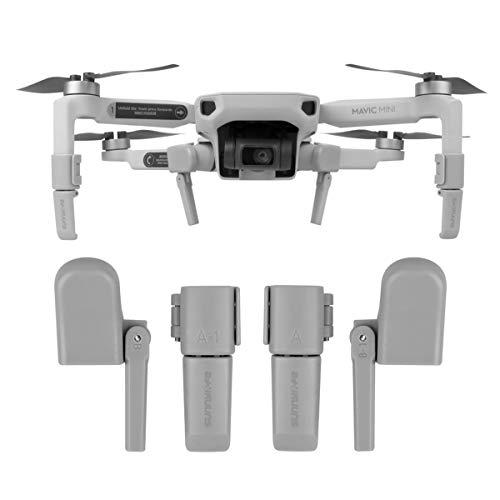 O'woda Tren de Aterrizaje Plegable y Extensible Soporte de protección para Drones con absorción de Impactos para dji Mavic Mini Drone Accesorios