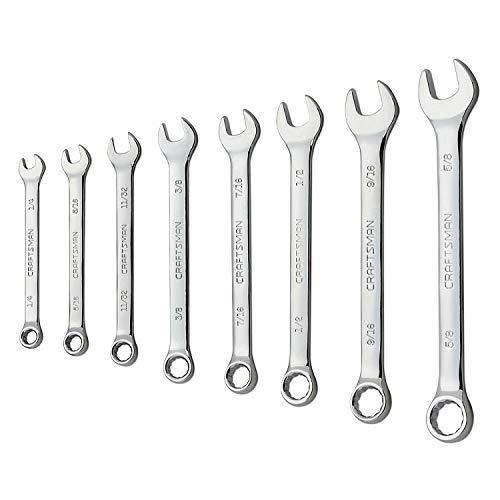 Craftsman 8-Piece Standard 12 Point Combination Wrench Set