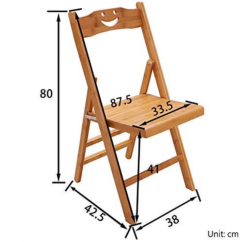 ZDHG Einfacher Kreativer Holz Smiley Klappstuhl, Auswärts Isst Stuhl, Bürostuhl, Bürostuhl Massivholzhocker