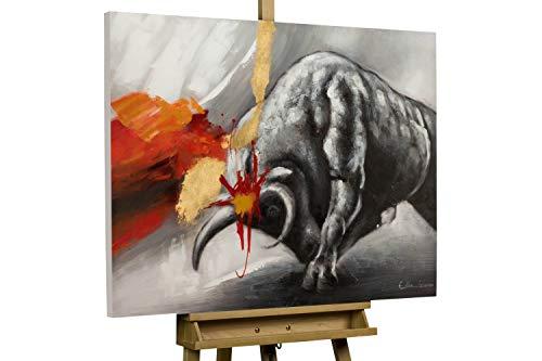 KunstLoft® Acryl Gemälde 'Feuriger Ausbruch' 100x75cm handgemalt Leinwand Bild