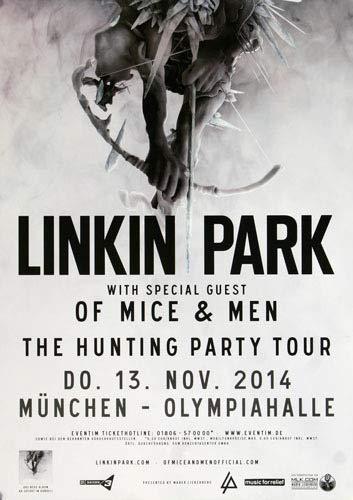 Linkin Park - Until Its Gone, München 2014 » Konzertplakat/Premium Poster | Live Konzert Veranstaltung | DIN A1 «