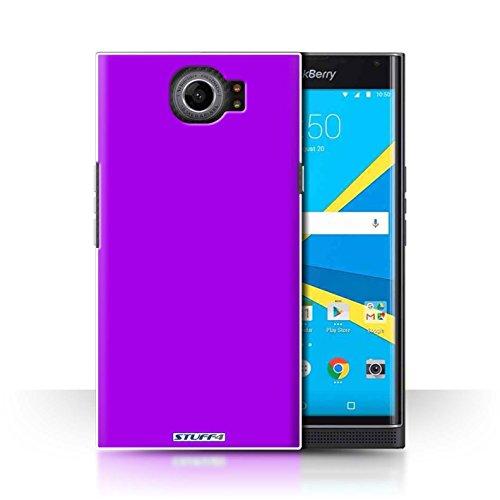 Hülle Für BlackBerry Priv Farben Lila Design Transparent Ultra Dünn Klar Hart Schutz Handyhülle Case