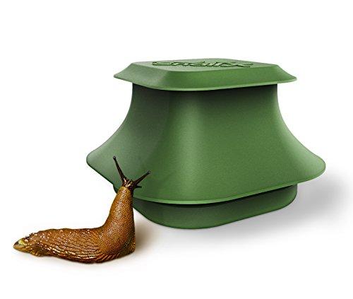 Trampa para babosas y caracoles SnailX, kit básico: trampa y atrayente | lucha segura, limpia y muy eficiente contra los caracoles | protección contra los caracoles para jardín, casa y jardineras
