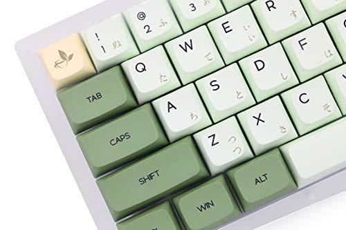 XDA V2 Matcha Green Tea Dye Sub Keycap Set Thick PBT for Keyboard gh60 Poker 87 tkl 104 ansi xd64 bm60 xd68 xd84 xd96 Janpanese (Matcha Set JAN x1)
