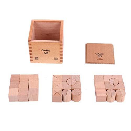 CUTICATE Cubos De Madera para Niños Bloques De Construcción Apilar Juguetes De Juego En Caja para Baby Shower