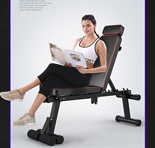 Product Image 5: KKLTDI Utility Folding Bench Roman Chair Exercise Equipment for Home,Gym & Fitness Studio,Adjustable Dumbbell Fitness Bench Black