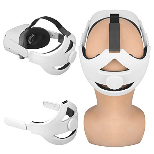 VR Accessories Set for Oculus Quest 2,K6 Adjustable Head Strap+Front Protective Cover+Controller Covers+Silicone Cover,Comfortable Waterproof Durable,Reduce Head Pressure