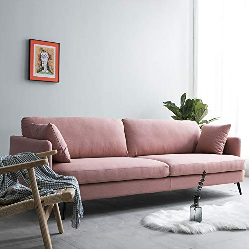 Fabric Sofa Nordic Living Room Small Apartment Simple Modern Cute Double ins net red Sofa Removable and Washable