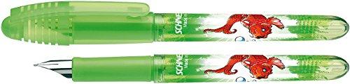 Schneider–Pluma estilográfica (tinta Sistema de relleno) Zippi, M, color verde transparente