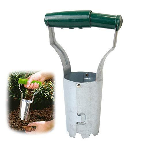 XIUNPR-6 Werkzeuge Zwiebelpflanzer, Biegefreies Werkzeug zum Pflanzen von Zwiebeln, Automatische Bodenfreigabe zum Graben/Nachfüllen von Hole Garden Agricultural Seedling Tube