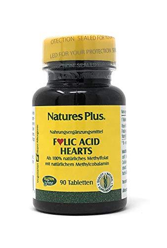 Natures Plus Folic Acid Hearts (Folsäure Herzen) 90 Tabletten