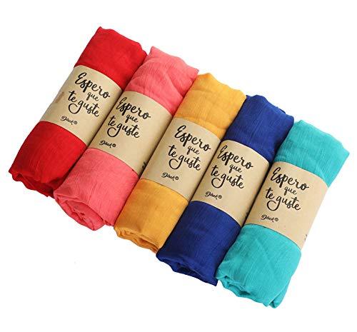Verpakking met 10 zakdoeken van kraftpapier. Originele zakdoeken voor bruiloften.