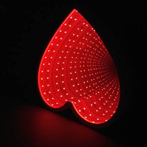 3d Kreative Neuheit Sterne Tunnel Lampen Unendlichkeit Spiegel Licht Led Tunnel Nachtlicht Nette Herz Lampe Für Kinder Baby Spielzeug Geschenk LIEBE