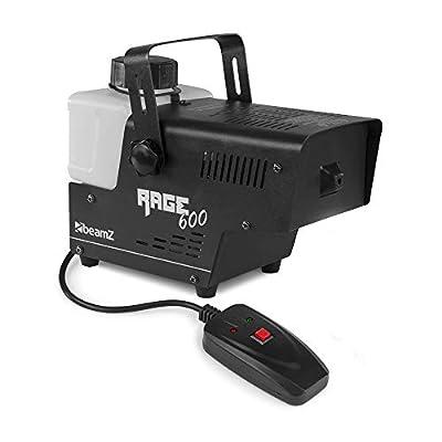 beamz RAGE 600I Smoke Machine Fog Mist Effect with Remote DJ Disco Party *2019 Model*