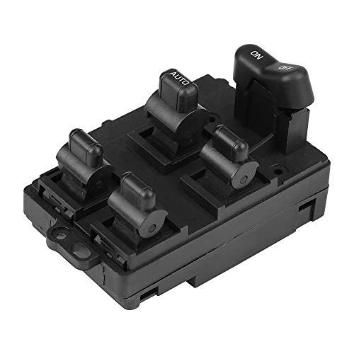 KIMISS Botón interruptor de elevalunas eléctrico, interruptor de ventana Power Master para 1990-1997 35750-SV4-A11 (lado izquierdo del conductor)