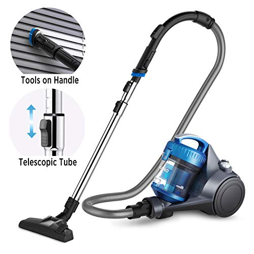 Eureka NEN110A Whirlwind Bagless Canister Vacuum Cleaner, Lightweight Corded Vacuum for Carpets and...
