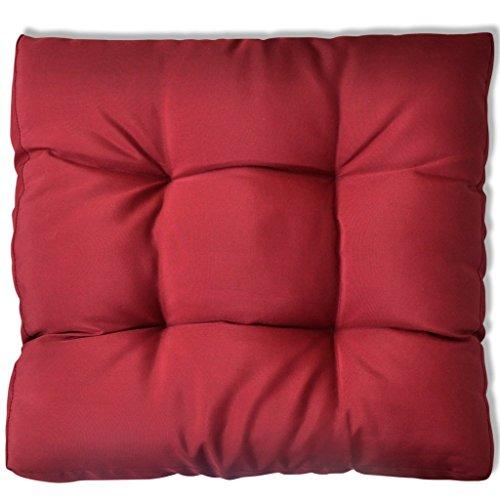 Festnight Coussin de siège Rouge Vineux 60 x 60 cm