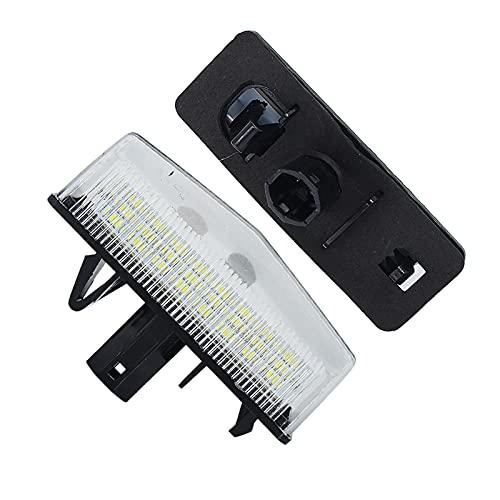 Luz de Placa Luces de matrícula de Coche de 2pcs LED para Toyota Matrix AZE14#, ZRE142, Prius ZVW30 / NHW20 / Enchufe HBD/V-ZVW40 / V-ZVW41, VENZA GGV1# Placa LED
