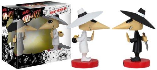 Mad Magazine Comics Spy vs. Spy 15cm Wackelkopf-Figuren 2er Set Wacky Wobbler