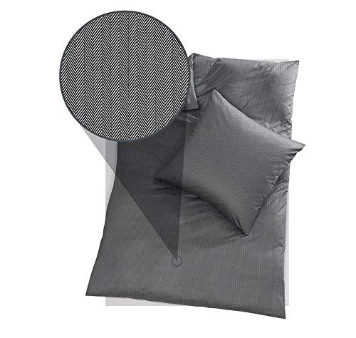 DORIS MEYER Interlock-Jersey Bettwäsche Kalli schwarz 1 Bettbezug 135 x 200 cm + 1 Kissenbezug 80 x 80 cm