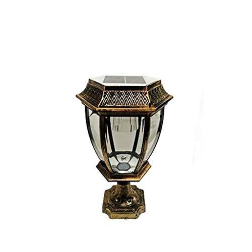 NXYJD Cerca del jardín Luces solares, Impermeable al Aire Libre del Anuncio Pilar de la Columna Villa Farola Patio Paisaje Patio de luz LED de la lámpara