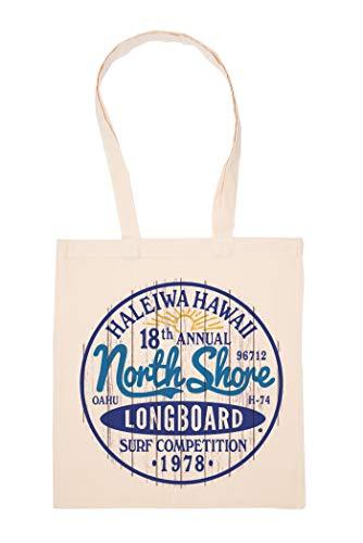 North Shore Surfing Hawaii Tasche Wiederverwendbar Einkaufen Lebensmittel Baumwolltuch Tote Reusable Shopping Bag