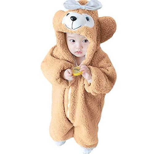 Manteaux bébé, YUYOUG Unisexe Bébé Grenouillères Combinaison Pyjama Hiver Forme Ours Animal Déguisement Kaki (5-6 Ans, Khaki)