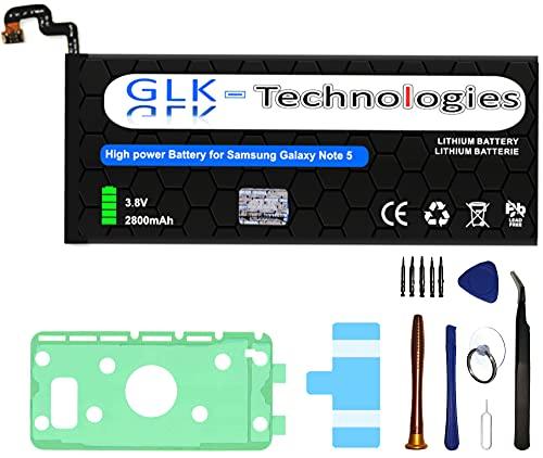 High Power Ersatzakku kompatibel mit Samsung Galaxy Note 5 SM-N920 EB-BN920ABA | Original GLK-Technologies Battery | accu | 3200 mAh Akku | inkl. Werkzeug Set Kit 2021 B.J