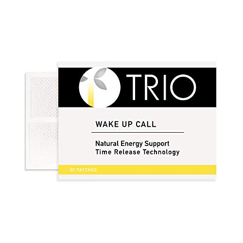 Trio Wake Up Call Patches - B12, Caffeine, Energy Blend for Mental Alertness (30 Patches)