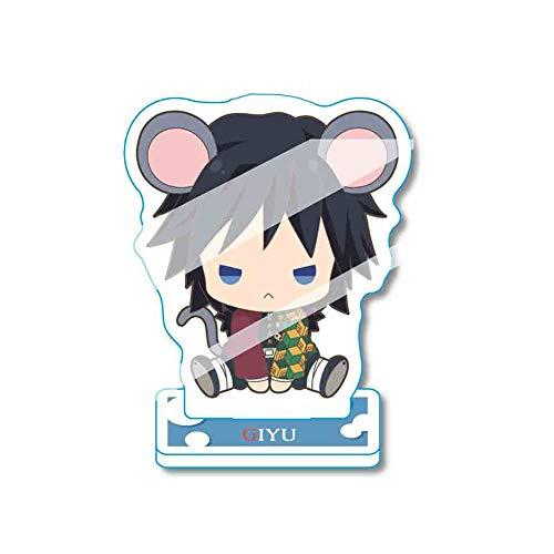 cluis Anime Demon Slayer: Kimetsu no Yaiba Stehende Figur Modell Stehen Acryl Schreibtisch Stehen Action Figure Puppe Stehtisch Dekor für Anime Fans(Style 09)