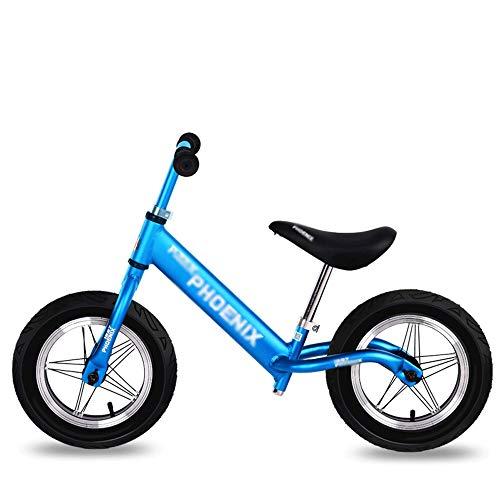 UNU_YAN Gleichgewicht Bike Scooter 1-3-6 Jahre alt Scooter Kinder ohne Fuß Kid Fahrrad, Zweirad Fahrrad Gehtraining (Color : Blue)