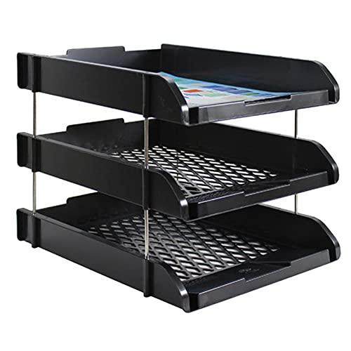 MVAOHGN 3-Nivel Desmontable PÁGINAS Titular de la Malla Soporte de Documentos Tray Desk Organizer Contenedor para la Revista Paper Home Office Supplies