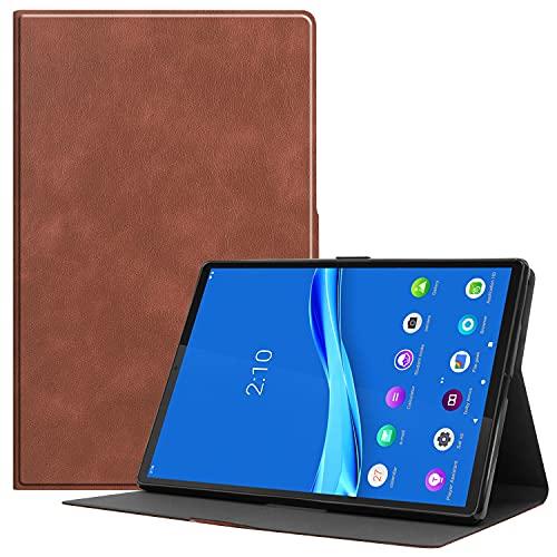 ZHIWEI Tablet PC Bolsas Bandolera Estuche de Soporte Plegable para Lenovo M10 FHD Más 10' TB-X606F Funda de Tableta, Funda Slim Fit Stand Protective Cover con función de sueño automático y activación