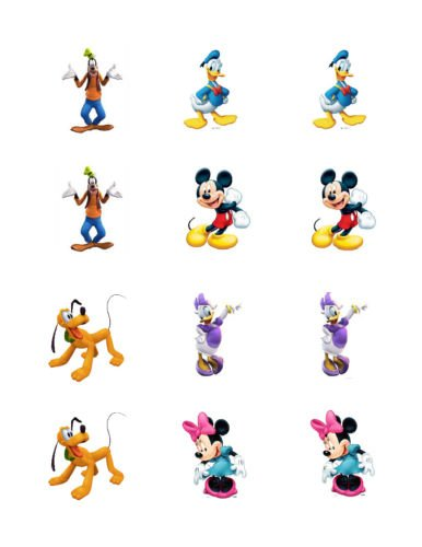 Mickey Mouse Clubhouse edible cupcake toppers