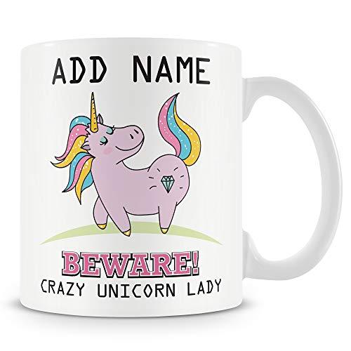 Unicorn Mug - Crazy Unicorn Lady Cup - Personalised Gift